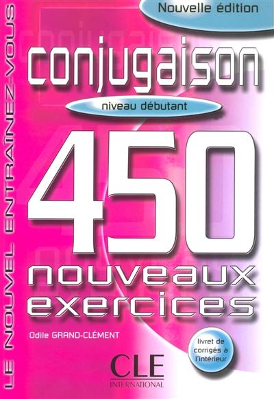 Afbeelding van Conjugaison 450 exercices - Débutant