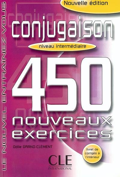 Afbeelding van Conjugaison 450 exercices - Intermediaire